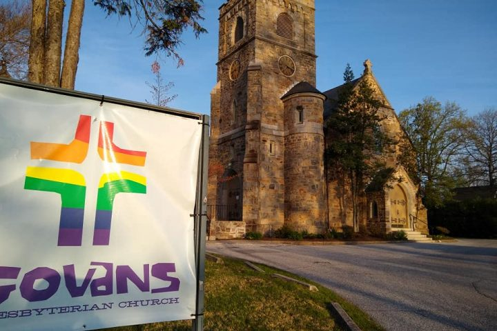 Church with Govans sign