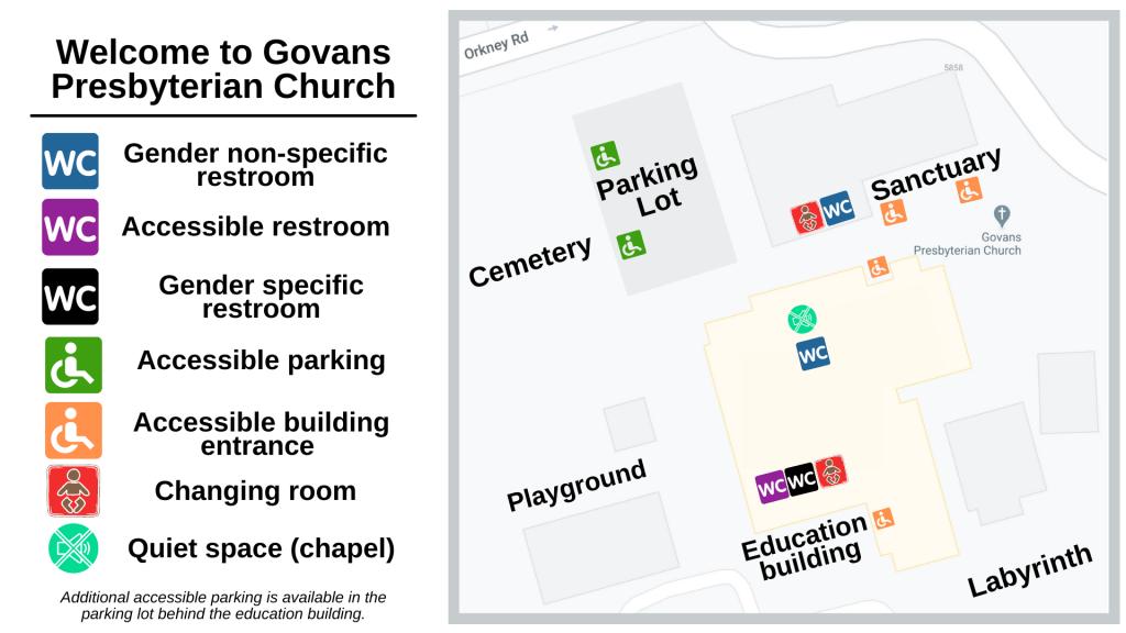 Map of Govans Presbyterian Church Campus in Baltimore