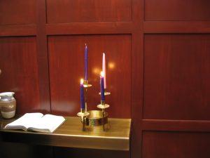 Meditation Chapel shelf