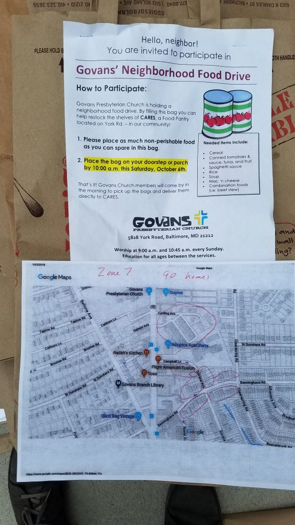 Neighbrhood Food Drive map