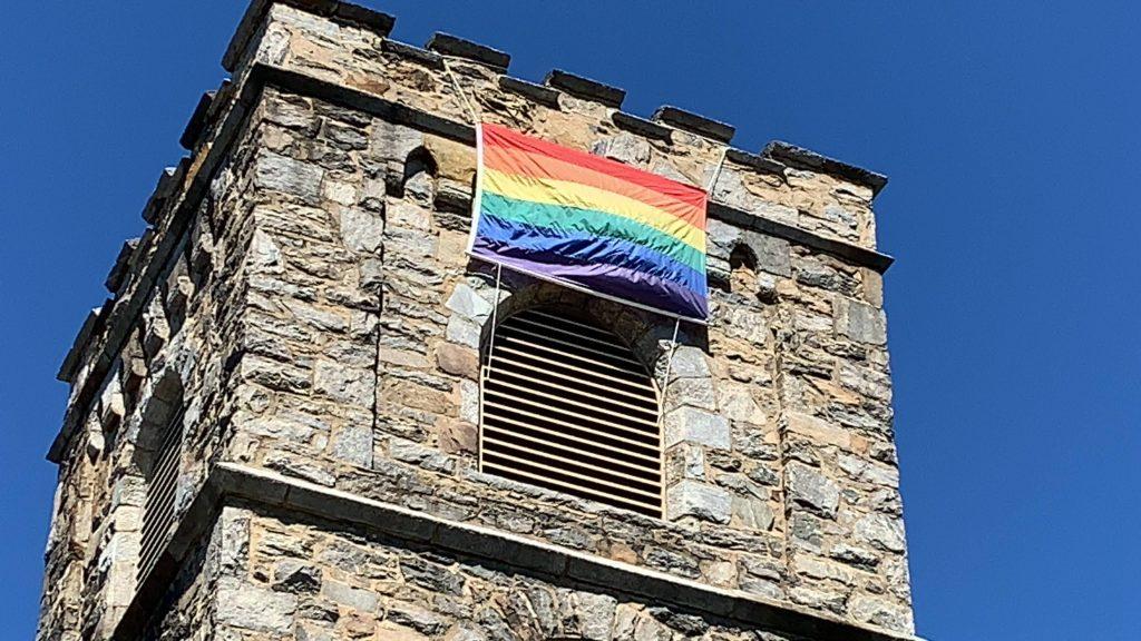Flying the rainbow flag