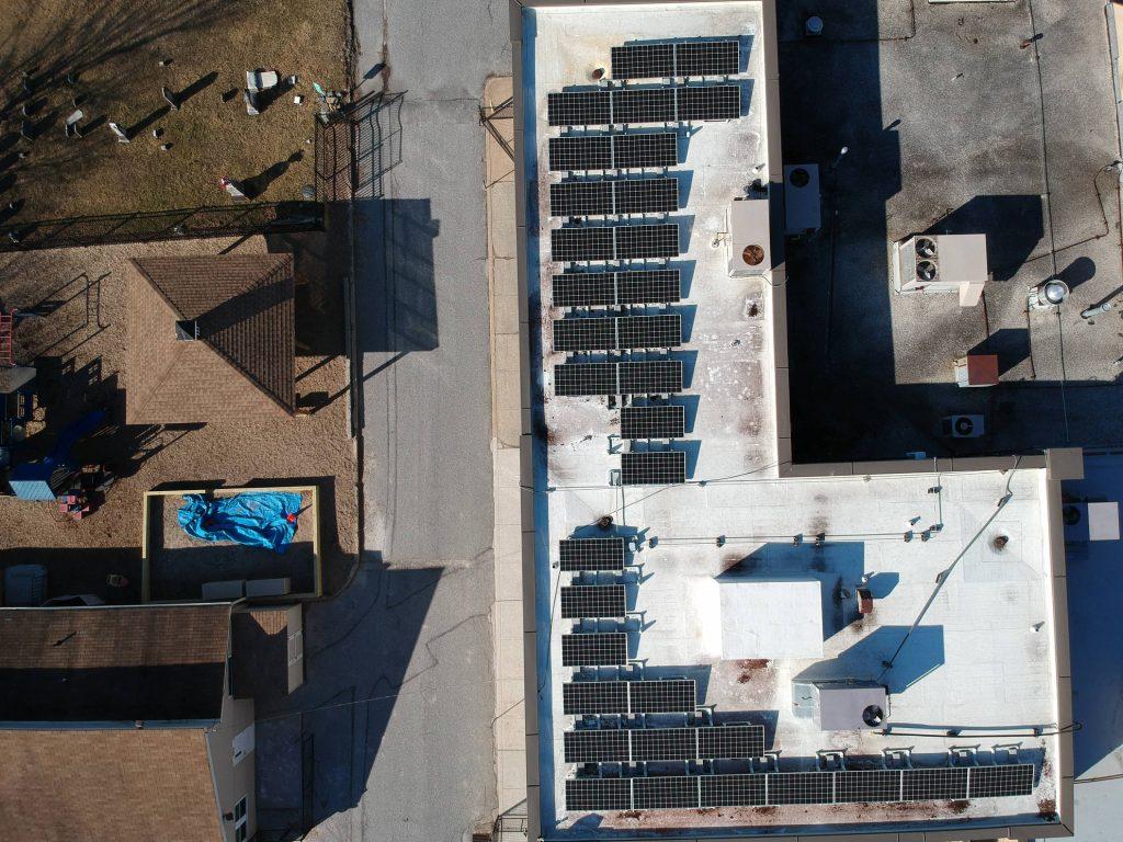 Solar panels on the church